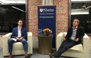 Andrew Trader and Mark Pincus at the Wharton Entrepreneurship Dinner