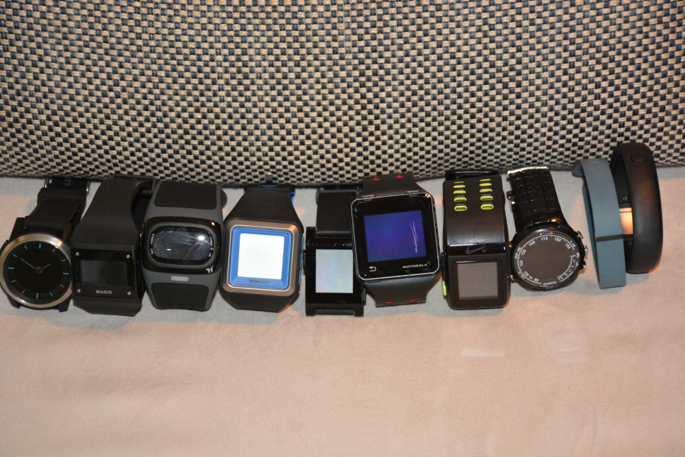 my various (non-exhaustive) set of wearables